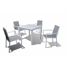 Conjunto de argila para jantar ao ar livre em alumínio