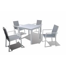 Aluminium frame buiten dineren slingerset