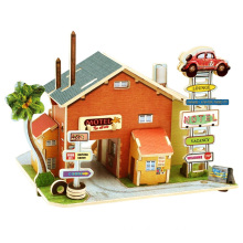 Holz Collectibles Spielzeug für Global Houses-American Motor Inns