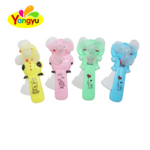 China Mini Carton Hand Pressing Fan Toy with Candy