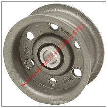 Aluminum Synchronous Flat Belt Pulley with Flanges