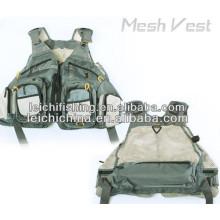 Fly Fishing Green Mesh Vest com bolsos
