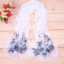 Mode nouvelle arrivée plaine tissage imprimé écharpes en soie Mesdames écharpe en mousseline de soie