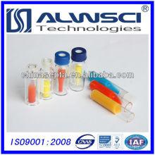 Inserciones de vidrio de 5 mm base plana y cónica para 8-425 viales