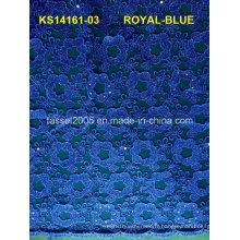 Tissu en dentelle en cordon blanc jacquard de haute qualité, cordon en dentelle pour robes