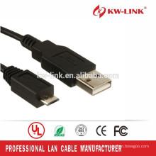 Cable negro vendedor caliente del tipo A de la hembra / mini-B del USB para HTC para Samsung Cable elegante del USB de MrPlex del teléfono celular de Samsung