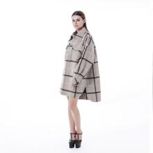 Manteau en laine cachemire style chemise