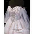 2017 nuevo vestido de boda de diseño de manga larga vestido de novia para la novia