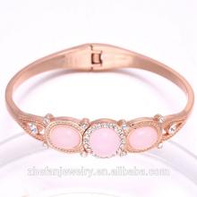 femmes accessoires rose plaqué or bracelet élégant dame bijoux