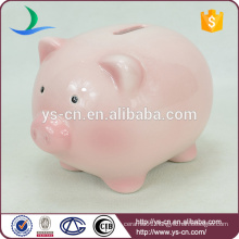 Pink pig sex cartoon toy ceramic coin bank