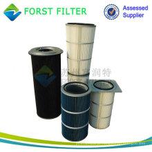 FORST Fabricação Filtro plissado Filtro de ar para limpeza de poeira Filtro de ar para indústria de cimento