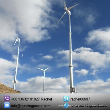 Sistema híbrido solar do gerador de vento 5kw