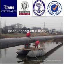Résistance à l'usure en caoutchouc bateau gonflable bateau ponton