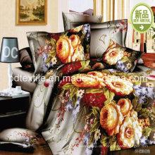 100% Polyester bedruckte Bettwäsche