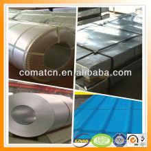 Aluzinc pintada galvanizado bobina de aço AZ100g/m2, aço Galvalume, planta de China