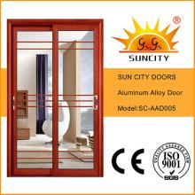 Puerta interior de aluminio con parrilla Sc-Aad005
