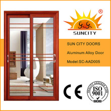 Aluminium Interior Door with Grill Sc-Aad005