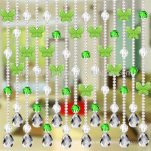 La última cortina cristalina romántica del grano de la mariposa del diseño