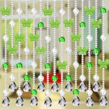Dernier rideau romantique en cristal pour perles en cristal