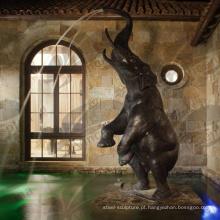 2018 Novo Design Jardim Elephant Bronze Statue (Serviço Personalizado)