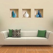 Adesivo de parede 3D removível de vinil de vasos azul e branco
