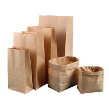 Saco de papel reciclado de embalagem branca por atacado do fabricante à prova d'água personalizado com seu próprio logotipo saco de papel kraft marrom