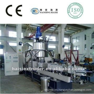 Capítulo alta calidad TSE-65 del gemelo-tornillo paralelo de co-rotación extrusora
