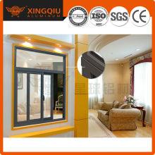 Fenêtre en verre coulissante en aluminium de haute qualité / fenêtre en aluminium oem
