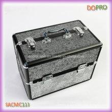 Коробка тщеты старинные шаблон алюминиевая макияж комплект с замком (SACMC113)