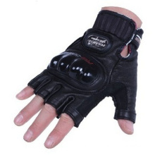 Biker Handschuhe, Männliche Half Means Riding Leder Motorrad Handschuhe