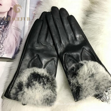 Best selling real fur gloves women winter warm wholesale gloves