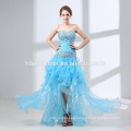 New design off shoulder short front long back evening dress fashion beaded fishtail formal dress for wedding occasions