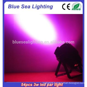 2015 hotsale 54pcs x 3w dj light disco light led flat par light