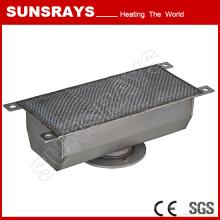 Gril portatif de gaz utilisé pour la machine de cuisson de café, brûleur de fibre en métal