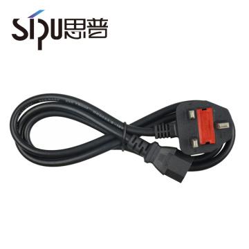 SIPU Litze Kupfer Rundstecker AC Stecker UK 3 Kern Netzkabel für PC