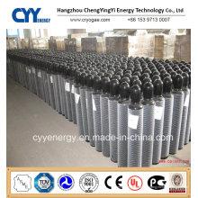Cylindre à gaz en acier au dioxyde de carbone à haute teneur en oxygène à 30L