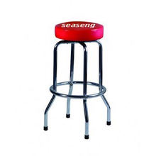 Hot sell used bar stools steel frame and chrome plated, PVC sponge