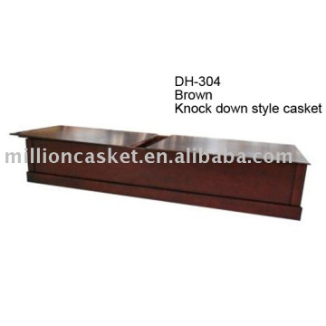 Knock down American wooden casket