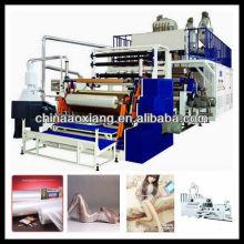 estiramiento AX-500 Cling película rebobinado cortadora máquina placa extrusora película de poliéster línea de producción
