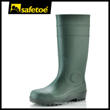 Botas de chuva de goma, botas de goma de plástico, botas de goma verde W-6037G