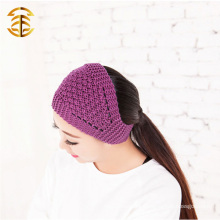 Fashion Knit Headband Pattern Multicolor Wool Knited Winter Headband For Women