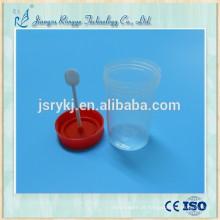 Recipiente para amostras de fezes médicas descartáveis