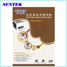 Weiße Laser Papel Transfer Papier Blätter Wasser Rutsche Abziehbild Papier Camisetas Wasser Transfer Papier Transfert Keramik Decals