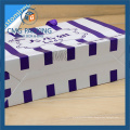 Striped Paper Bag with Purple Stripes Printing (CMG-MAY-039)