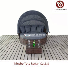 Outdoor Rattan Big Daybed in Brown (1215)