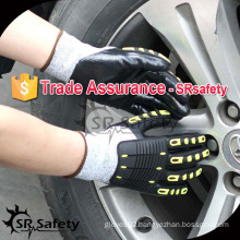 SRSAFETY 13G knitted liner nitrile coated cut working gloves impact mechanical glove