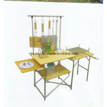 Outdoor Picnic Bamboo Folding BBQ Table with Carry Bag