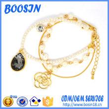 2016 Usine de gros bon marché de conception de bracelet de perles pour les filles