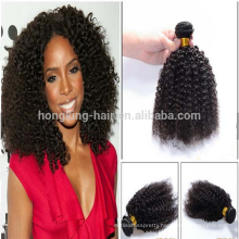 Alibaba Wholesale natural black kinky curly grade 8A 100% virgin human remy hair