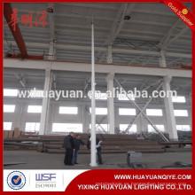 Acero cónico redondo y galvanizado en caliente galvanizado con bisagras y poste de iluminación de carretera plegable y poste de luz exterior